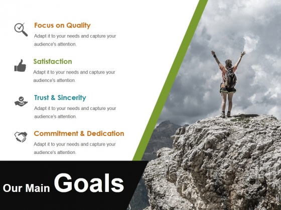 Our Main Goals Ppt PowerPoint Presentation Pictures Visuals