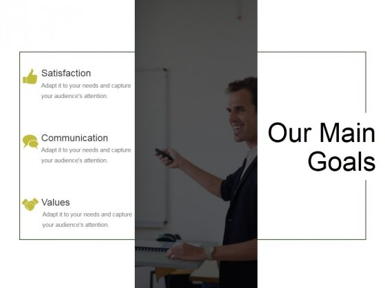 Our Main Goals Ppt PowerPoint Presentation Slides