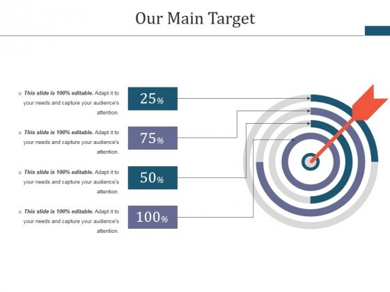 Our Main Target Ppt PowerPoint Presentation Layouts Picture