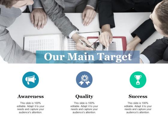 Our Main Target Ppt PowerPoint Presentation Portfolio Information