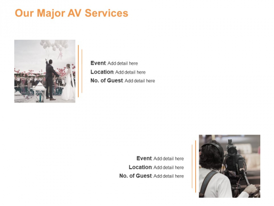 Our Major AV Services Ppt PowerPoint Presentation Inspiration Graphics Download