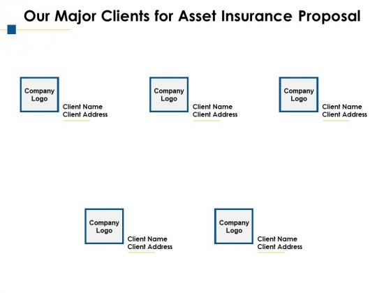 Our Major Clients For Asset Insurance Proposal Ppt PowerPoint Presentation Outline Graphic Tips