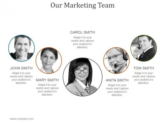Our Marketing Team Ppt PowerPoint Presentation Example
