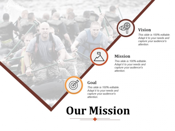 Our Mission Goal Ppt PowerPoint Presentation Ideas Templates