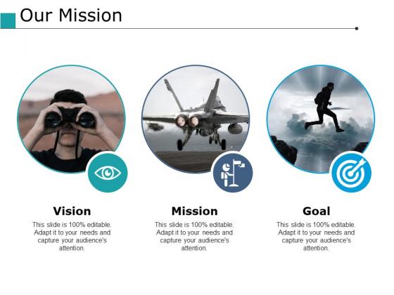 Our Mission Goal Ppt PowerPoint Presentation Model Smartart