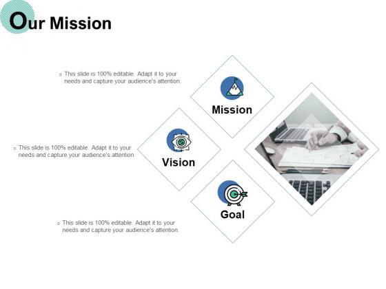 Our Mission Goal Ppt PowerPoint Presentation Slides Ideas