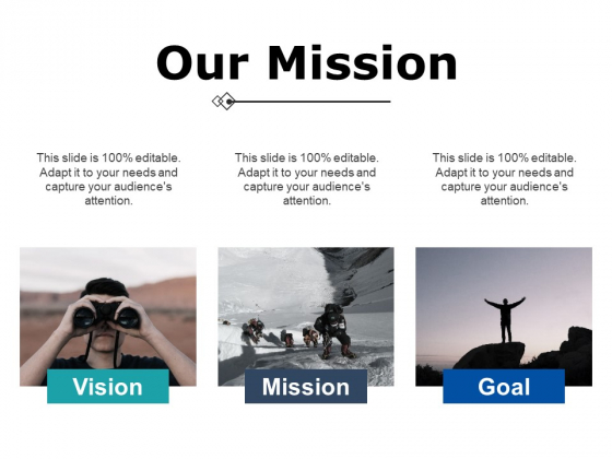Our Mission Ppt PowerPoint Presentation File Files