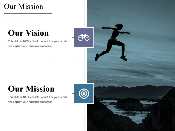 Our Mission Ppt PowerPoint Presentation Icon Example Topics
