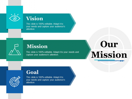 Our Mission Ppt PowerPoint Presentation Icon Graphics Example