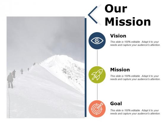 Our Mission Ppt PowerPoint Presentation Slides Design Ideas