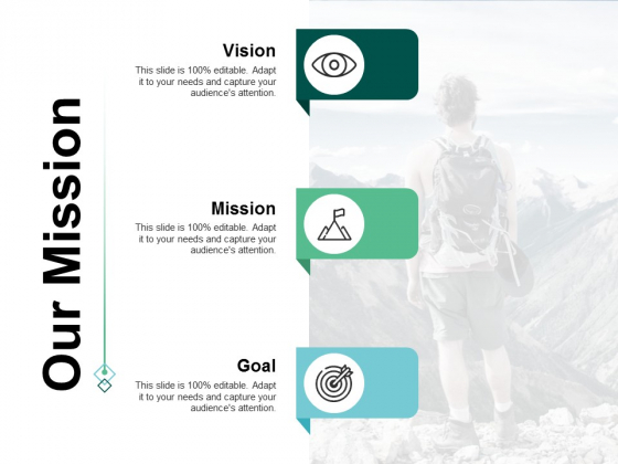 Our Mission Vision Goal Ppt Powerpoint Presentation Guidelines