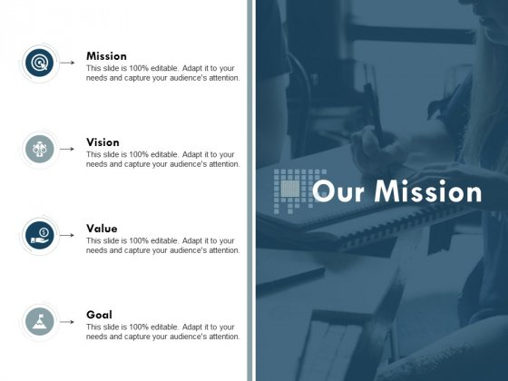 Our Mission Vision Goal Ppt Powerpoint Presentation Visual Aids Portfolio