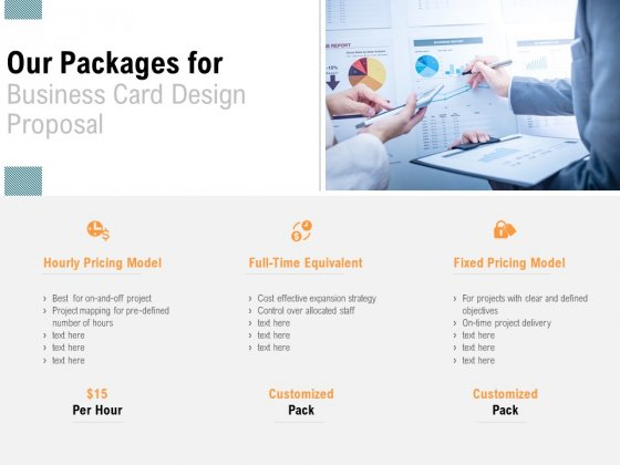 Our Packages For Business Card Design Proposal Financial Ppt PowerPoint Presentation Model Graphics Pictures