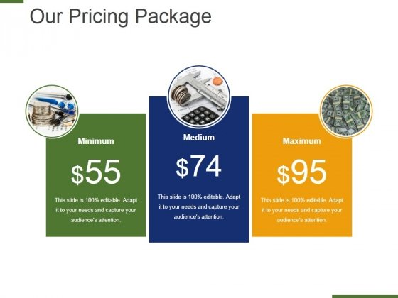 Our Pricing Package Ppt PowerPoint Presentation Layouts Sample