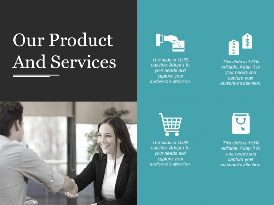 Our Product And Services Template 1 Ppt PowerPoint Presentation Show Model