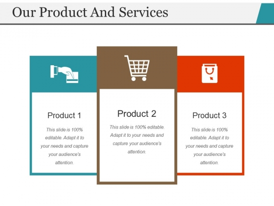 Our Product And Services Template 2 Ppt PowerPoint Presentation Styles Slide Download