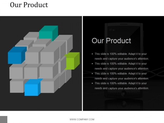 Our Product Template 1 Ppt PowerPoint Presentation Graphics
