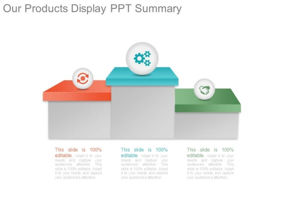 Our Products Display Ppt Summary