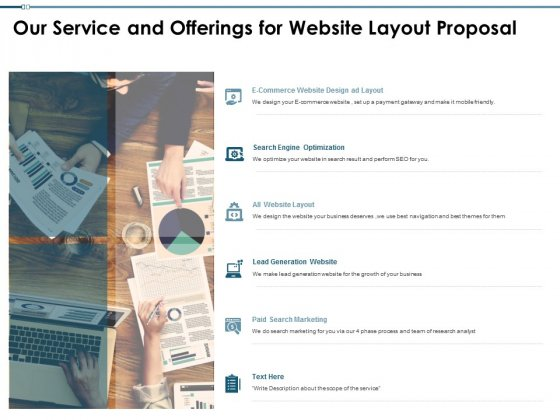 Our Service And Offerings For Website Layout Proposal Ppt PowerPoint Presentation Summary Outfit