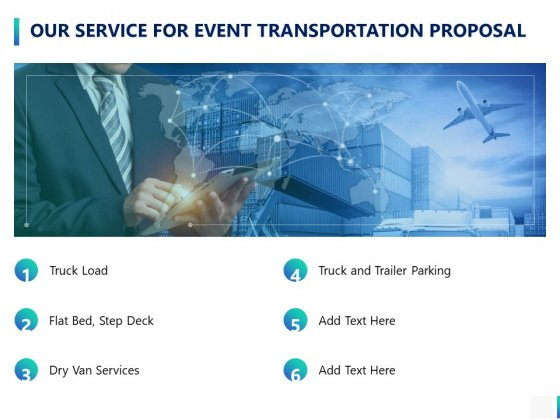 Our Service For Event Transportation Proposal Ppt PowerPoint Presentation Infographics Templates
