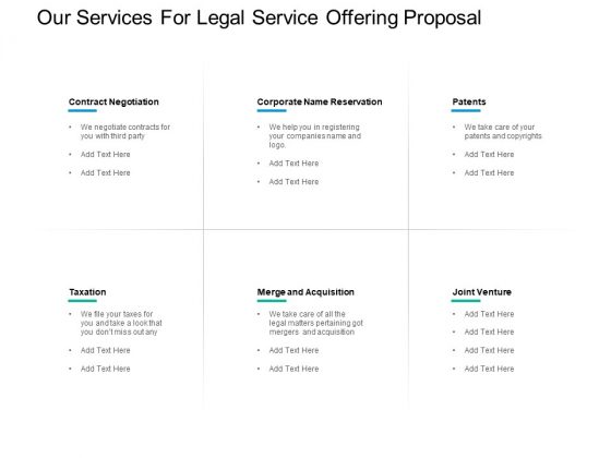 Our Services For Legal Service Offering Proposal Ppt PowerPoint Presentation Slides Portfolio