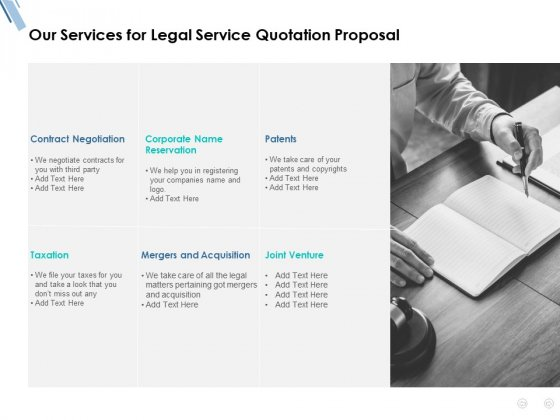 Our Services For Legal Service Quotation Proposal Ppt PowerPoint Presentation Model Introduction