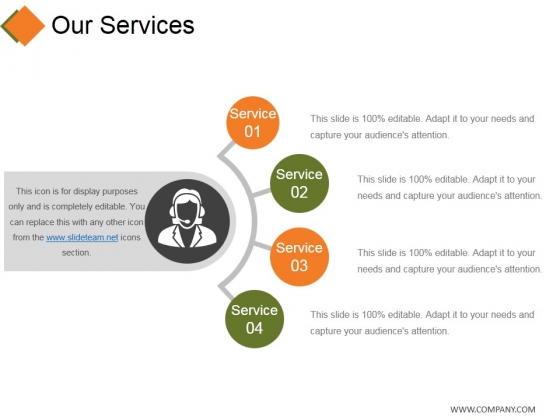 Our Services Template 2 Ppt Point Presentation Summary Display Slide 1