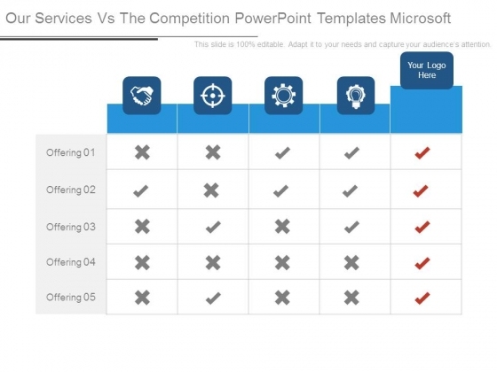 Our Services Vs The Competition Powerpoint Templates Microsoft