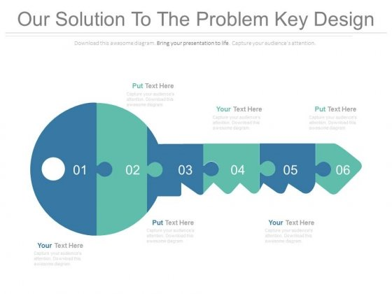 Our Solution To The Problem Key Design Ppt Slides
