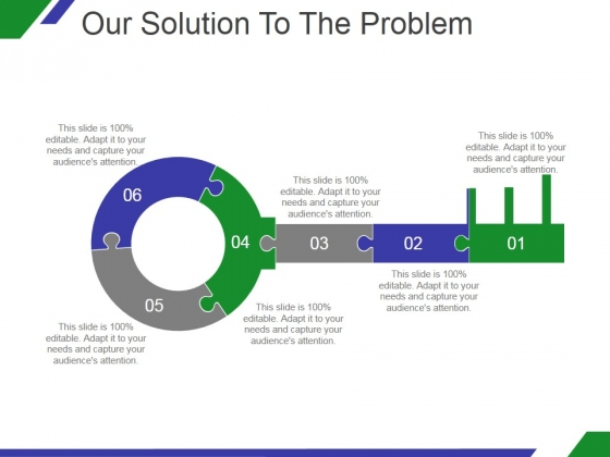 Our Solution To The Problem Template 1 Ppt PowerPoint Presentation Design Templates