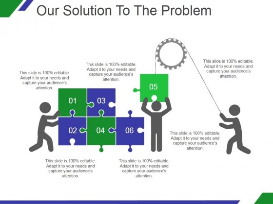 Our Solution To The Problem Template 2 Ppt PowerPoint Presentation Inspiration