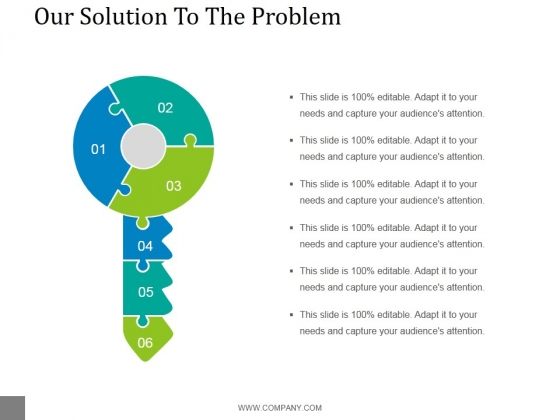 Our Solution To The Problem Template 2 Ppt PowerPoint Presentation Slides