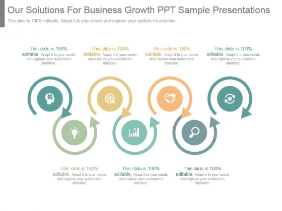 Our Solutions For Business Growth Ppt Sample Presentations