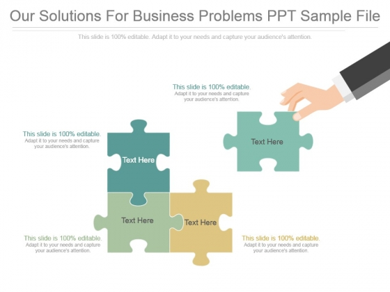 Our Solutions For Business Problems Ppt Sample File