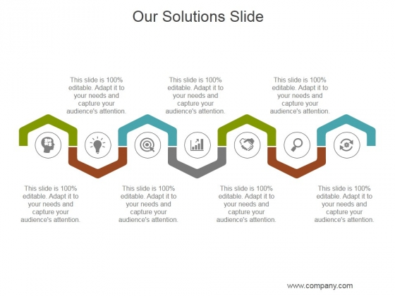 Our Solutions Slide Ppt PowerPoint Presentation Files
