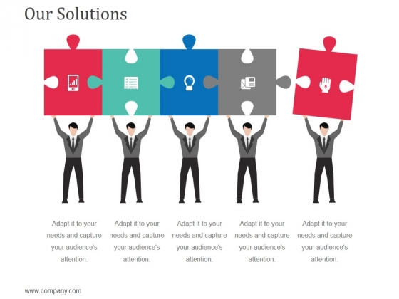 Our Solutions Template 2 Ppt Powerpoint Presentation Ideas Graphics Design