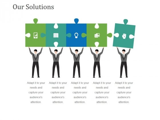 Our Solutions Template 2 Ppt PowerPoint Presentation Slides Format Ideas