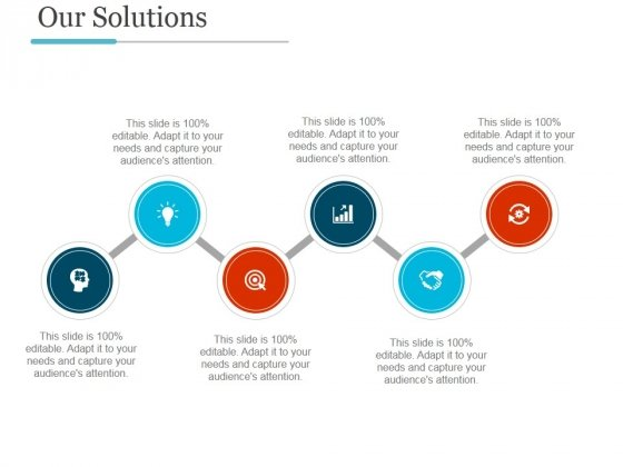 Our Solutions Template Ppt PowerPoint Presentation Professional