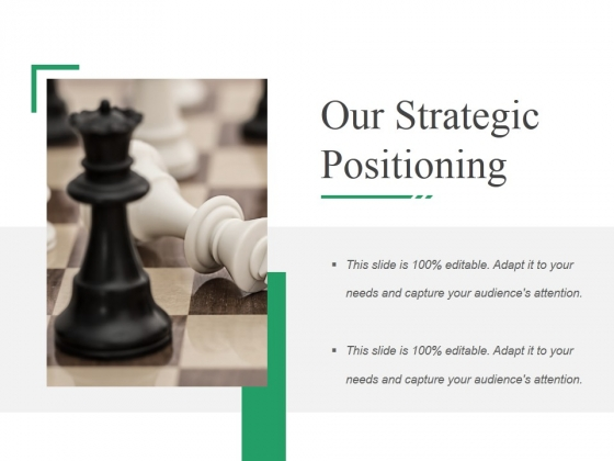 Our Strategic Positioning Ppt PowerPoint Presentation Layouts Icon