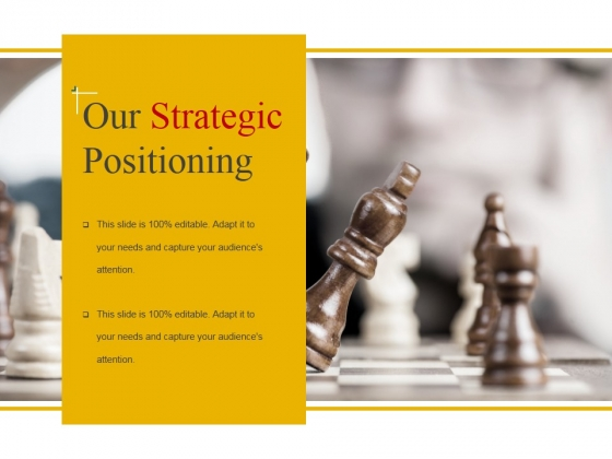 Our Strategic Positioning Template 1 Ppt PowerPoint Presentation Styles Templates