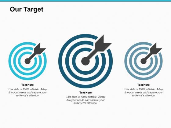 Our Target Arrow Ppt PowerPoint Presentation Slides Gridlines