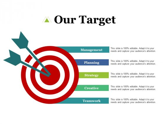 Our Target Creative Teamwork Ppt PowerPoint Presentation Layouts Sample