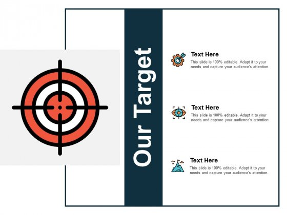 Our Target Icon Process Planning Ppt PowerPoint Presentation Slides Smartart