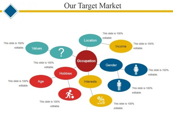 Our Target Market Template 1 Ppt PowerPoint Presentation Icon Master Slide