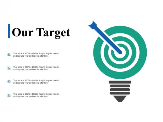 Our Target Ppt PowerPoint Presentation Layouts Mockup