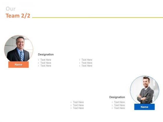 Our Team Designation Ppt PowerPoint Presentation Outline Professional