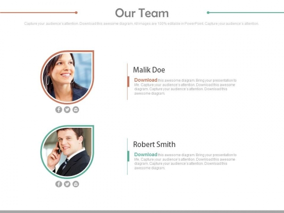 Our Team For Marketing Planning Powerpoint Slides