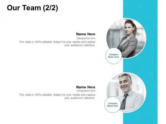Our Team Introduction Management Ppt PowerPoint Presentation Gallery Topics