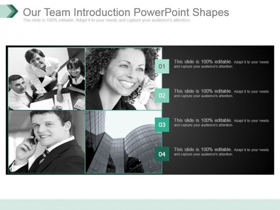Our Team Introduction Powerpoint Shapes