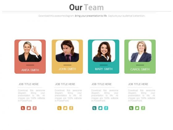 Our Team Introduction Powerpoint Slides Powerpoint Templates